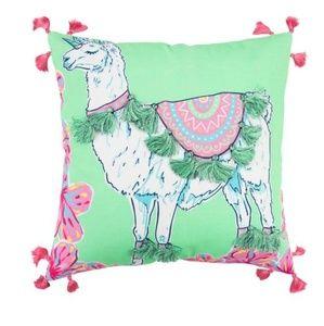 Simply Southern Llama Unicorn Decorative Pillow